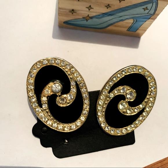 Vintage Clip-On Statement Stud Earrings